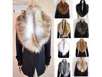 Faux fur scarf collar BNWOT