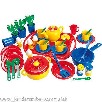 Ab 3 Jahre 57 teile Kinder Koch Geschirr Spielgeschirr Kinderküche Spiel Küche