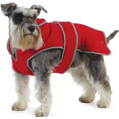 Ancol Muddy Paws Stormguard Poppy Red Waterproof Fleece Lined Dog Coat New 12