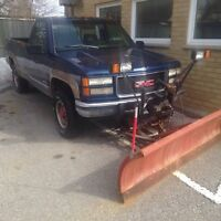 1994 Chevy 2500 diesel with plow