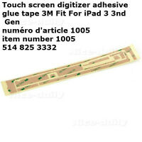 Touch screen digitizer adhesive glue tape 3M Fit For iPad 3 PART
