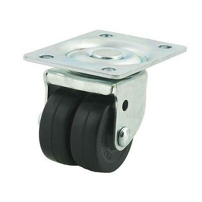 Set 2 4 Or 8 50mm Twin Dual Wheel Steel Castors 400 Lb 2 Double Swivel Casters