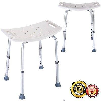 Adj. Medical Bath Tub Shower Chair 6 Height Bench Stool S...