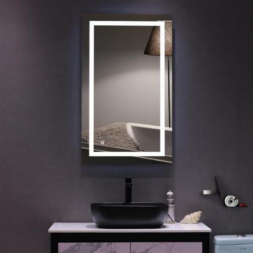 "40""x24""Anti-fog Bathroom LED Light Illuminated Mirror Wall Mounted Mirror Sensor"