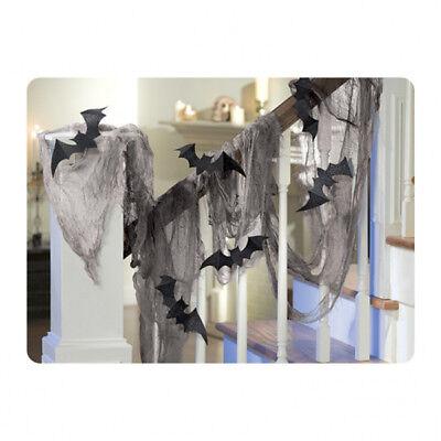 Lumpenstoff + 8 Fledermaus 4,5 m Dekostoff Halloween - Fledermaus Dekorationen