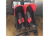 O Baby double buggy