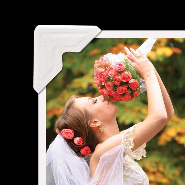 Lineco 252 Photo Corners, Self adhesive, Ivory. FAST FREE Shipping (bin 701-A)