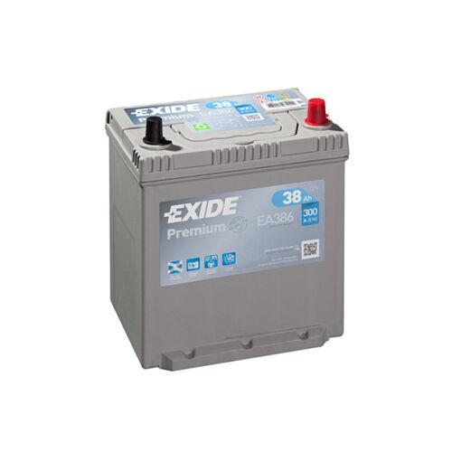 1x Exide Premium 38Ah 300CCA 12v Type 054 Car Battery 4 Year Warranty - EA386