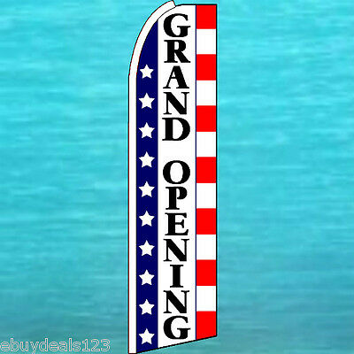 Grand Opening Flutter Feather Flag Vertical Advertising Sign Bow Banner Swooper