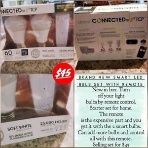 Smart LED Bulb Set with Remote - NEW