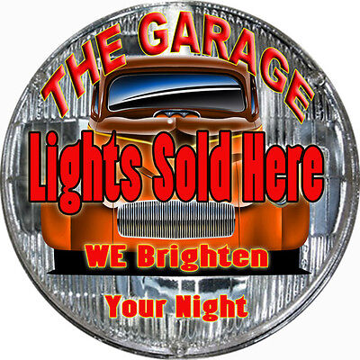The Garage Lights Sold Here Hot Rod Garage Art Sign