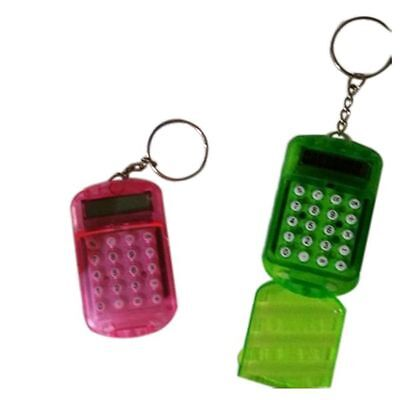 Stylish Battery Powered 8 Digits LCD Mini Calculator with Key buckle Prevalent