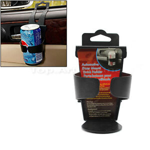 Black Universal Vehicle Car Truck Door Mount Drink Bottle Cup Holder Stand New