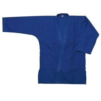 Judo Uniform BLUE Double Weave Cotton Heavyweight 24 oz Stiffer Lapel Judo Gi Double Weave Judo Uniform