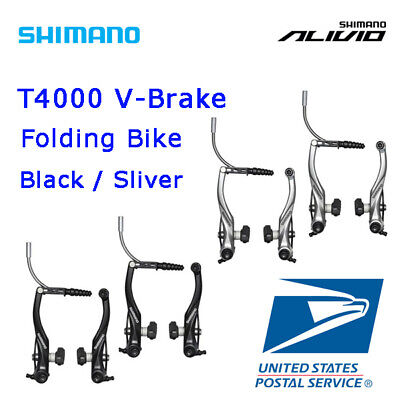 Shimano T4000 Brake Caliper V Brake Mountain Bike Front & Rear Set Black Silver