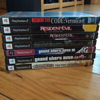 lot jeux ps2, shadow heart covent, resident evil outbreak