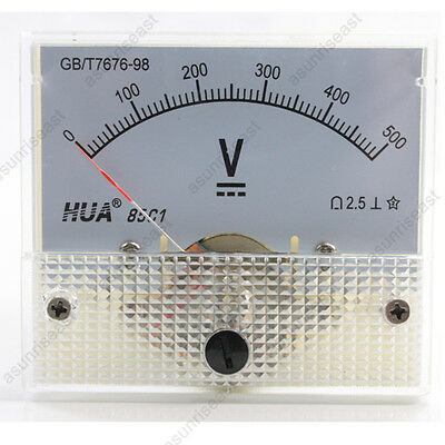 1 Dc 500v Analog Panel Volt Voltage Meter Voltmeter Gauge 85c1 White 0-500v Dc