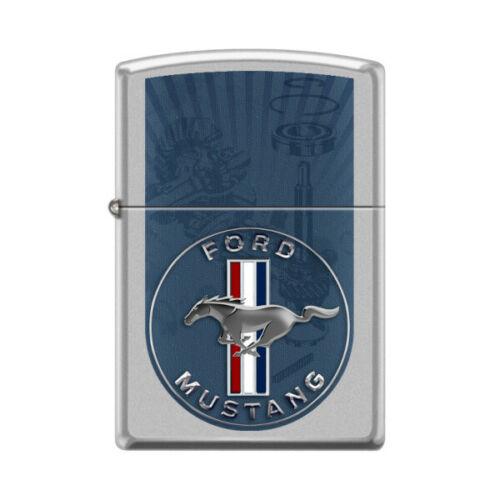 Zippo 8469, Ford Mustang, Satin Chrome Finish Lighter