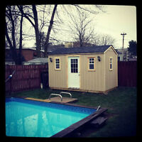 All Wood Backyard Sheds Fully Customized, From $499