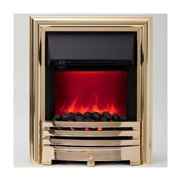 Be Modern Contessa Electric Fire (LED Flame) in Brass
