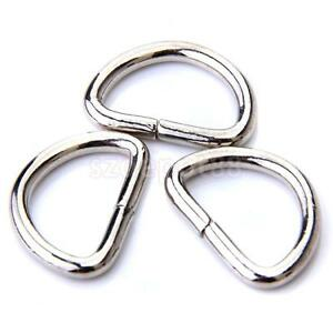 25pcs-Metal-Nickle-Plated-D-Ring-Jump-Ring-Connector-Findings-Crafts-20mm