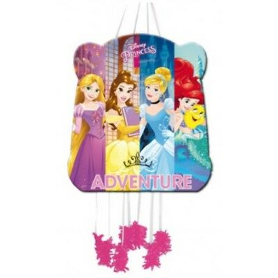Pink Disney Princess Pull String Pinata & Blindfold Fun Party Game Toy 395-135 (Princess Pull String Pinata)