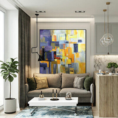 ZWPT909 wall decor modern abstract art painted hand oil painting art on Canvas, used for sale  Shipping to Canada