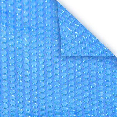 24' Ft Round Blue Swimming Pool Heater Solar Blanket Cover Tarp-12 (Round Pool Blue Solar Cover)