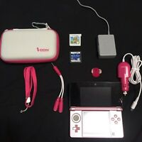 PINK NINTENDO 3DS + TRAVELLING PACK
