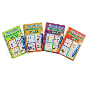 Quiz It Pen Kindergarten Set of 4 Books plus Pen