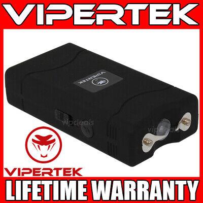 VIPERTEK Stun Gun Mini BLACK VTS-880 335 BV Rechargeable LED Flashlight