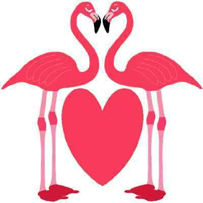 30 Custom Flamingo Love Art Personalized Address Labels
