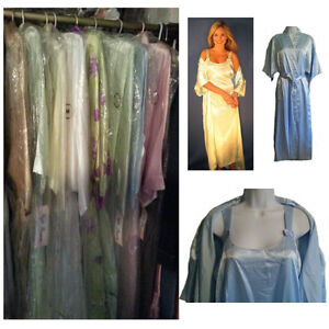 NEW - Wholesale LOT of Satin Robe, Nightgown, Hanger Sets x 4