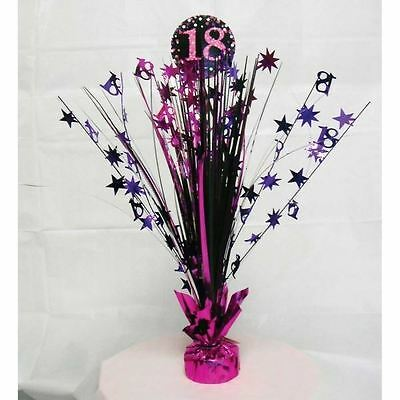 Pink 18th Birthday Table Decoration Centrepiece Spray Cascade Weighted 33cm - 18th Birthday Centerpieces