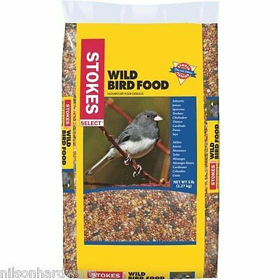 Stokes Select Wild Bird Food Bird Seed Milo Millet Corn Sunflower 5# Bag 592
