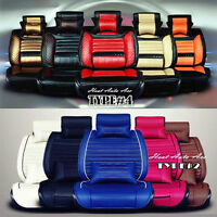 LEATHER CAR SEAT COVERS STEERING WHEEL COVERS FLOOR MAT STICKERS
