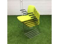 Boss Design Arran Skid Frame Meeting Chair Lime Green 1 available