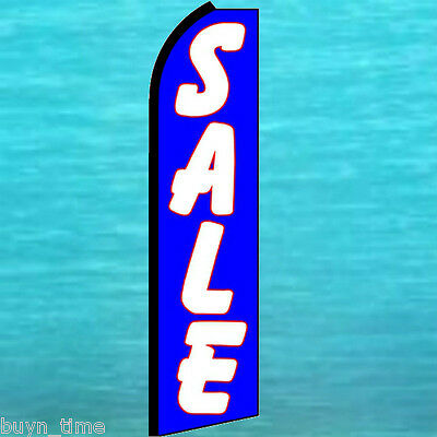 Sale Blue Flutter Feather Flag Tall Vertical Swooper Advertising Sign Bow Banner