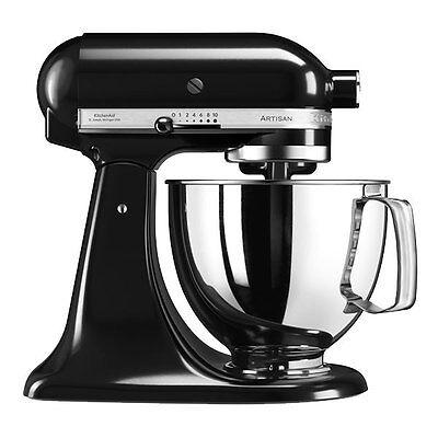 KitchenAid ARTISAN Küchenmaschine 5KSM125EOB Onyx Black Factory Serviced 4,8L