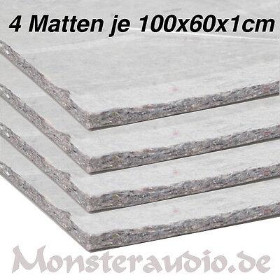 4 x CHP Dämmvlies 100x60cm 2,4m² selbstklebend 10mm dick KFZ Schalldämmung PKW  ()