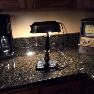 Vintage Brass Pull Chain Desk Lamp Regina Regina Area image 6