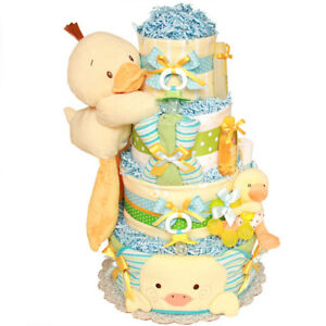 Custom Made Diaper Cakes with Baby's  Name. Free Delivery.