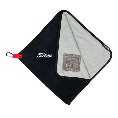 """New Titleist Stadry Performance Golf Towel 17"""" x 17"""" Black TA9SDPTWL Terry Outer, used for sale  Lillington"""