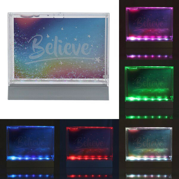 Details About Led Light Up Glitter Picture Frame Colourful Photo Frame Living Room Bedroom