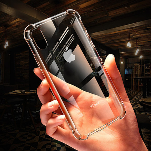 For iPhone XS Max XR X 8 Plus Clear Transparent Shockproof TPU Bumper Case Cover