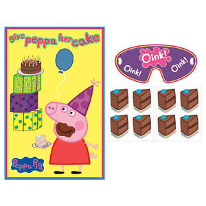 Peppa Pig Party Supplies PARTY GAME Up To 8 Players Genuine Licensed