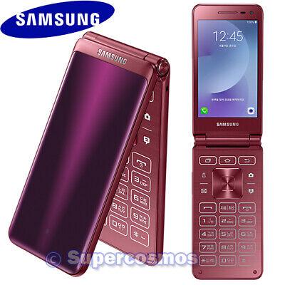 "SAMSUNG GALAXY FOLDER 2 SM-G160N 3.8"" QUAD-CORE 16GB UNLOCKED PHONE (WINE RED)"