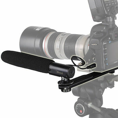 (3.5mm Microphone MIC+Camera Bracket Mount for Digital SLR&Video Camcorder DC/DV)