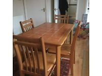 Dining table/ kitchen table with 4 matching chairs
