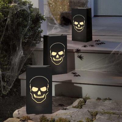 Totenkopf Boneyard 6 Grusel Lichtertüten Grusel Halloween Party Deko Dekoration